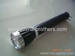1w high brightness black plastic led rechargeable torch