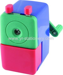 Plastic stationery pencil sharpener