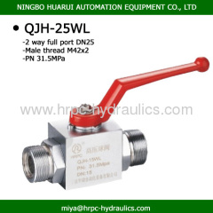 hydraulic full bore threaded steel ball valve