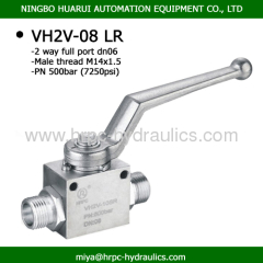 VH2V full port high pressure ball valves