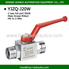 YJZQ male x male thread high pressure steel ball valve parts supplied