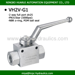 high pressure bsp female thread full port hydraulic 2 way Ball valve cf8m 1000 wog