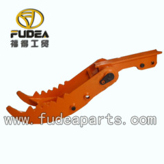 Excavator bucket hydraulic thumb