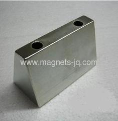 Large tile-shape N52 Rare Earth Neodymium/NdFeB Magnet with two hole