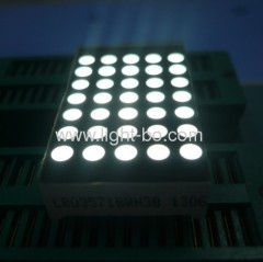 3mm 5 x 7 White dot matrix led display;5 x 7 white led dot matrix display