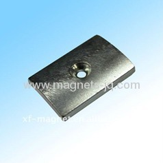 Irregular NdFeB permanent magnets with hole