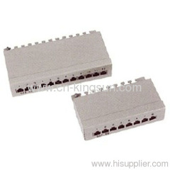 white STP 12port or 8 port Cat.5e Patch Panel
