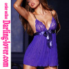 Purple Sexy Mesh Babydoll with Lace Bra