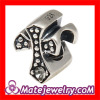 Wholesale Antique sterling silver European Cross charm 925 beads