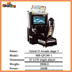 Arcade stage 4 MR-QF290-1,32 LCD Initial D (Single player) coin change for driving racing game machine