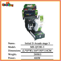 32 LCD Initial D Arcade stage 3 MR-QF280-3,electric racing arcade game machine
