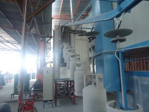 Conveyorised Automatic LPG tank powder coating line