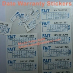 date warranty stickers for phone