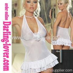 Sexy New Wholesale Mesh Back Cut White Mini Dress