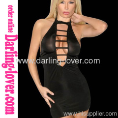 Sexy Black New Style With Stripe Back Cut New Babydoll