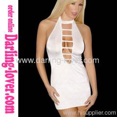 Sexy White New Back Cut Fashion Mini Dress