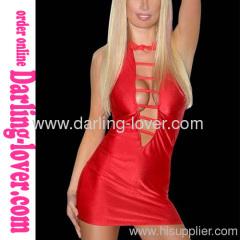 Sexy New Fashion Wholesale Red Back Cut Mini Dress