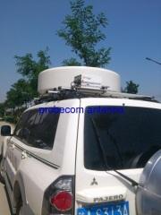 80cm vehicle mounted drive away ku band linear polarized on the move antenna
