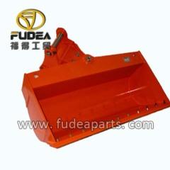 Hydraulic tilting mud bucket