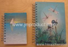 notebook with matt maination and glitter finish
