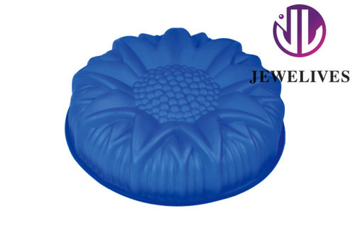 High class sunflower silicone cake pans in blue color