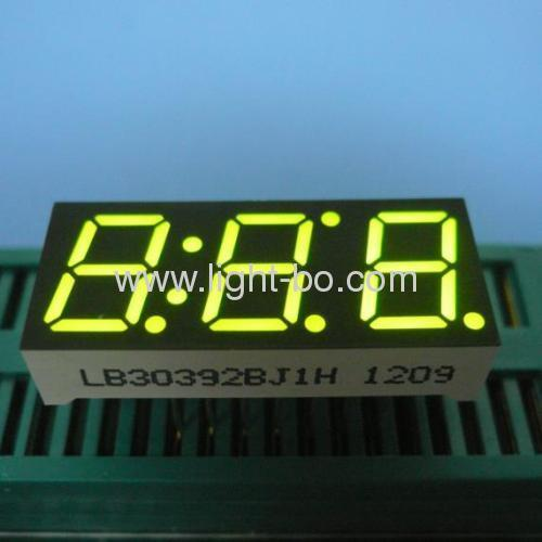 Ultra Blue Triple-Digit 10mm (0.39 ) 7 Segment LED Display for instrument Panel