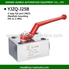 hydraulic components manifold mounting ball valves DN25 high pressure 315bar