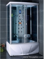 shower room with Touch screen computer panel