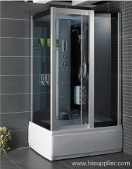 Front 5mm grey tempered glass for shower rooms