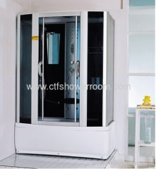 front 5mm blue glass with shower room