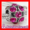 sterling silver european big hole austrian crystal bead for bracelets