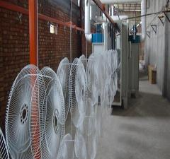 fan powder coating line
