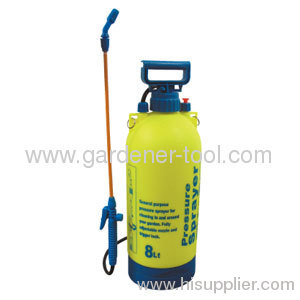 Plastic 8L Agriculture Pump Water Sprayer With Pistol