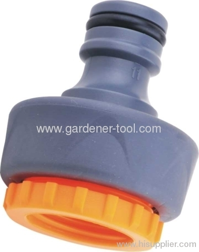 Plastic 1/2 &3/4Tap Connector With Rubber Soft Coat To Joint Outdoor Tap and Hose