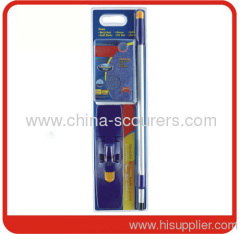 Microfiber Flat Mop Handle Blue+yellow colour