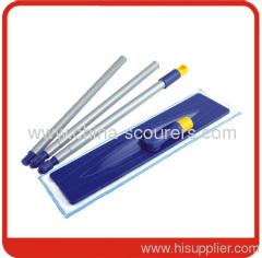 40*9cm Microfiber pad Flat Mop Frame with velcro style