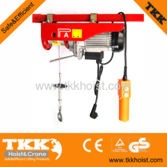 PA B Series Single Phase 220V 200KG Electric Wire Rope Hoist Winch With Upper limit
