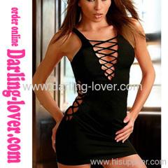 New Black Sexy Wholesale Cheap Babydoll Dress
