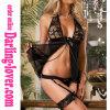 Black Sexy Wholesale Exclusive No Sleeve Lace Bra Spandex Fashion Babydoll