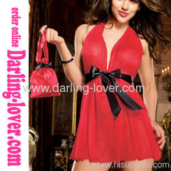 Red Mesh Fashion New Low Cut Hot Sale Dress