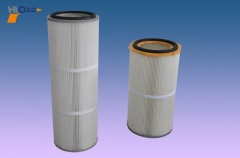powder recycle filter for powder coating booth