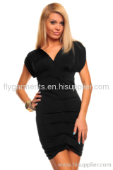 Black V Neck Summer Dress