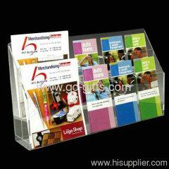 Hot sales! Stylish transparent slant-back brochure holder