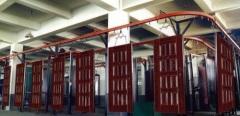 Security Door Spray Coating Line Equipment For 100kg Workpiece
