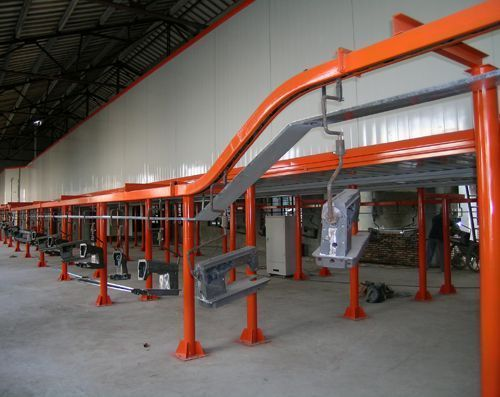 Powder Spray Coating Line With 500 - 600kg Conveyor Shains