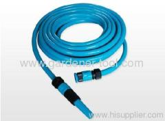 Garden PVC Reinforcement Water Hose With 2-Pattern Spray Nozzle Set