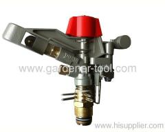 Brass impact sprinkler for agriculture