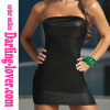 Sexy Black Classice Wholesale Lingerie Babydoll Dress with Back Zipper and G-string
