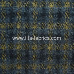 Yarn dyed fabric made of woo/lpolyester