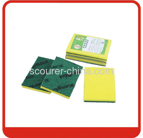 15*10*0.5cm scourer pad for kitchen cleaning green scourer